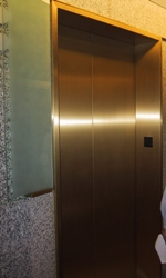 Resized Brass Elevator Refinishing